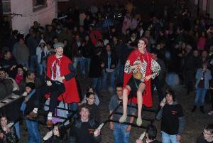 A Santa Bebiana e o São Martinho, lado a lado (foto da organização das festas - 2009)